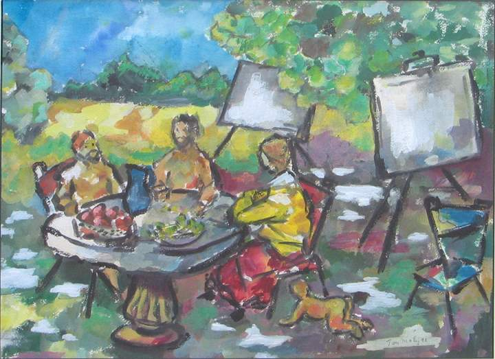 Artist's Picnic by  Tom Maley - Masterpiece Online