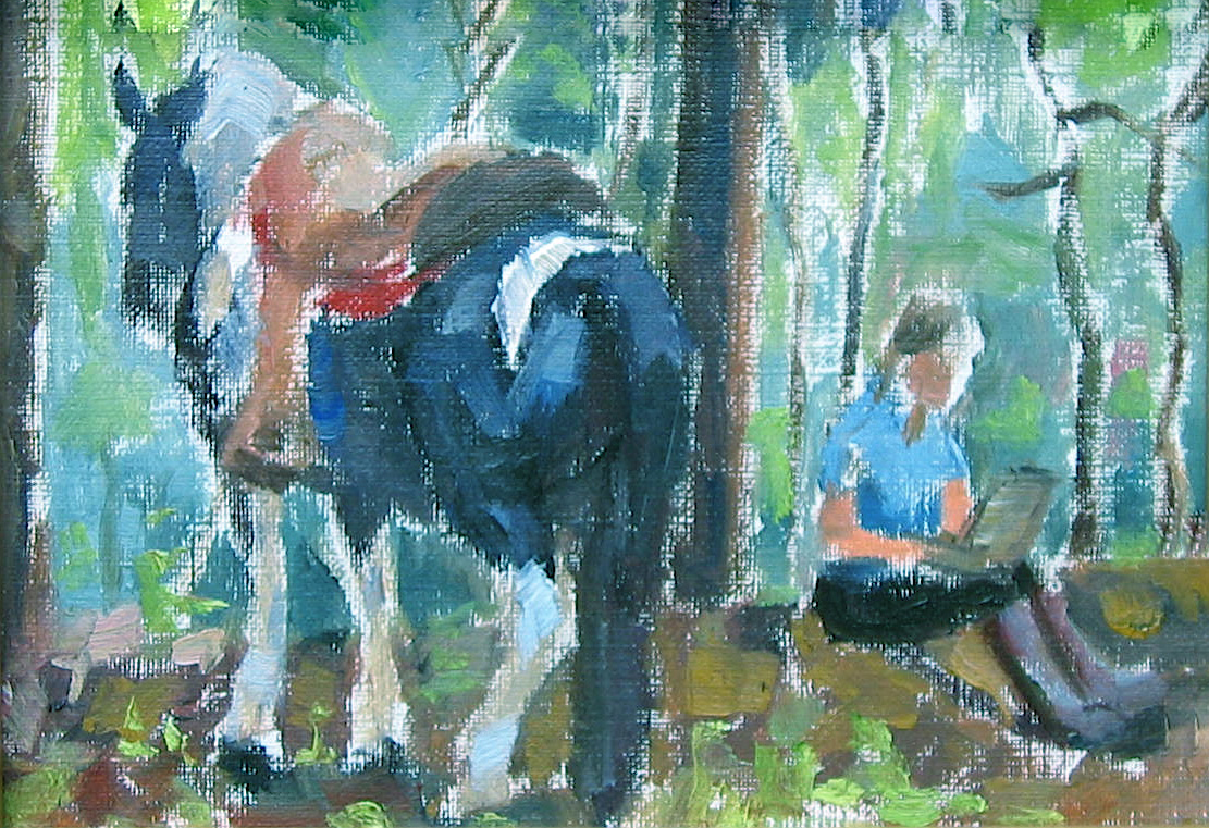 Painting on the Trail by  Melissa Hefferlin - Masterpiece Online