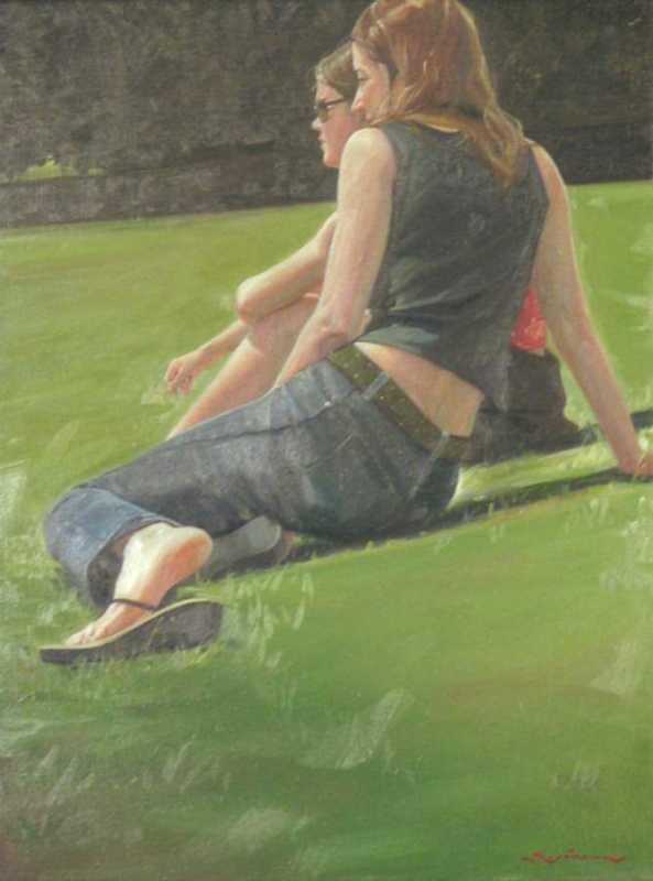 On The Lawn by  Kirk Kurokawa - Masterpiece Online