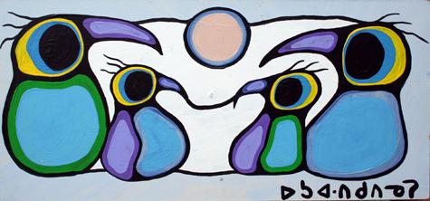Morrisseau - Untitled... by  Norval Morrisseau - Masterpiece Online