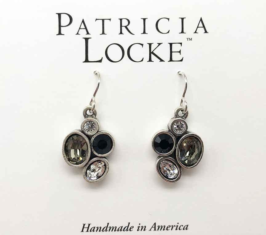 Mercy Earrings in Silver, Black & White