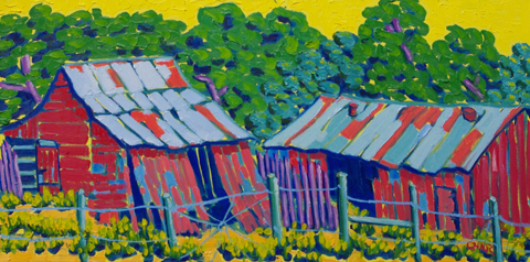Old Barns in Wimberly...