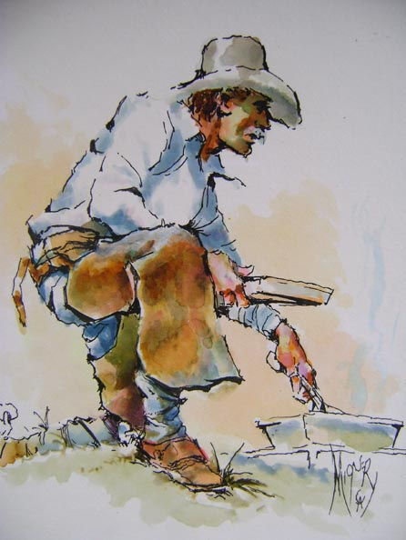 Cowboy Frying Pan by Mr. & Mrs. Herb Mignery - Masterpiece Online