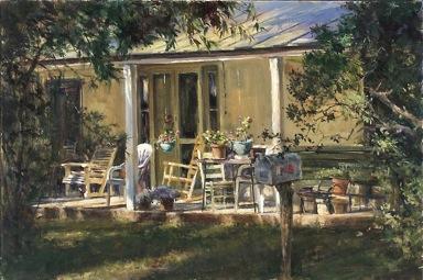 Porch, Between Grapet... by Mr John Austn Hanna - Masterpiece Online