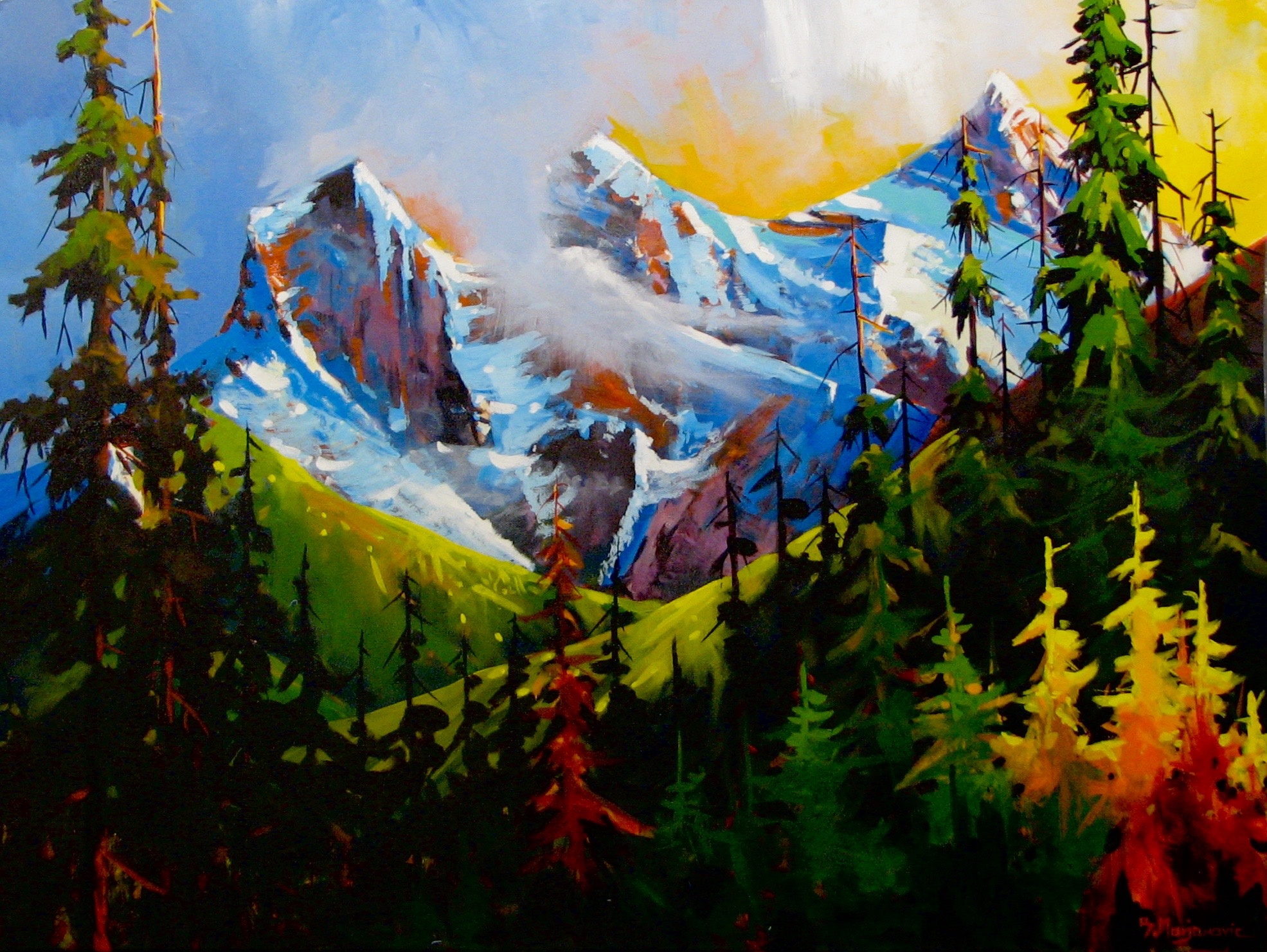 View of Three Sisters by  Branko Marjanovic - Masterpiece Online