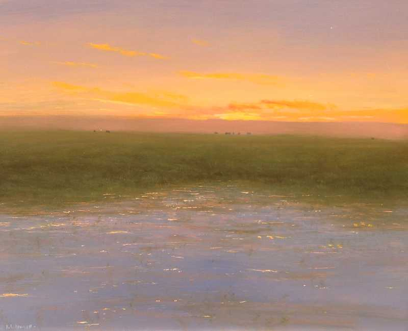 Summer Waterhole by  Raymond L. Knaub - Masterpiece Online