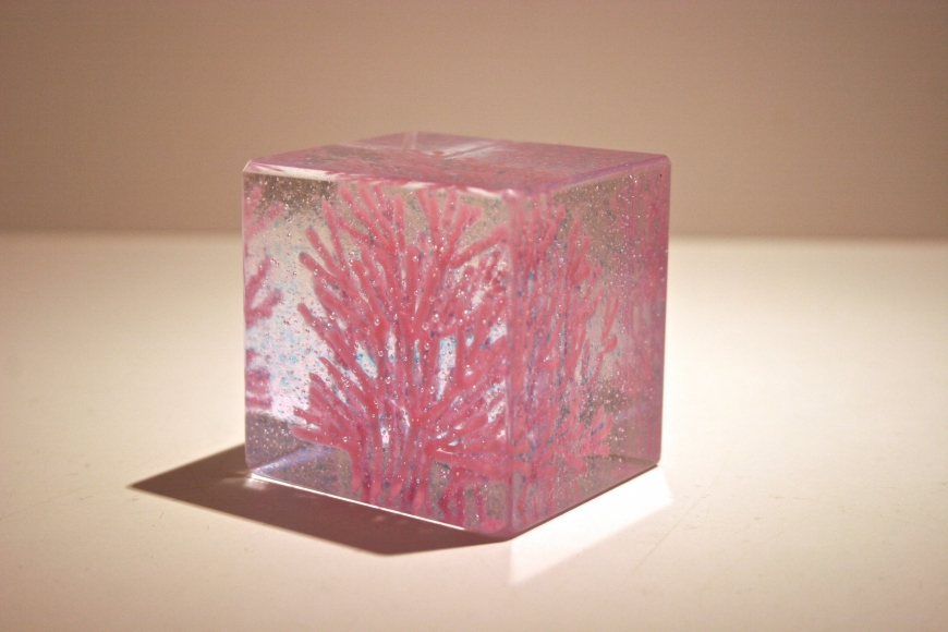 Pink Coral Cube by  Emma Varga - Masterpiece Online