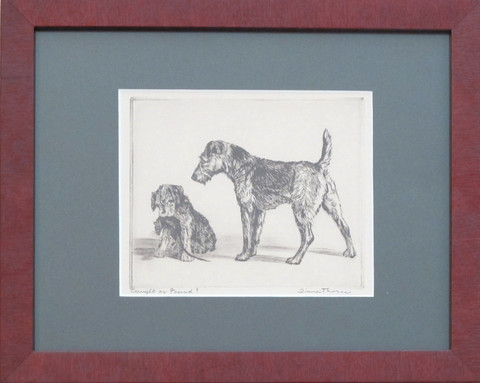 Victorian framed dogs... by  Diana Thorne - Masterpiece Online