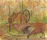 DP-OLD MILL WATERWHEEL by  P. Buckley Moss  - Masterpiece Online