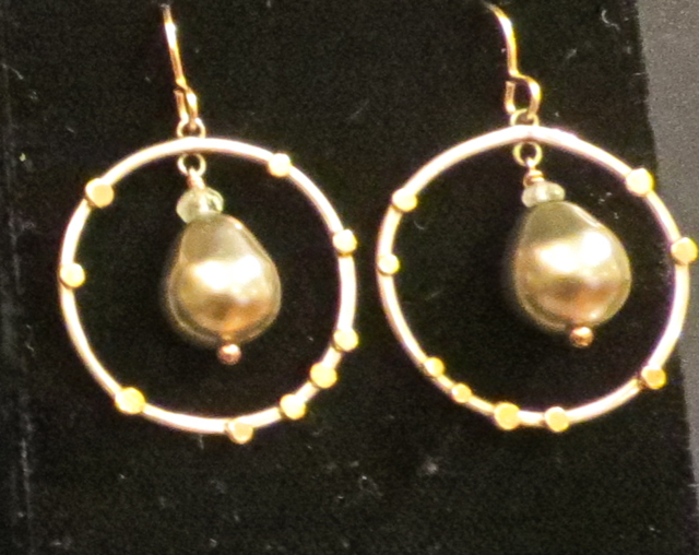 Grey Pearl Earrings by Mrs. Lana McMahon - Masterpiece Online