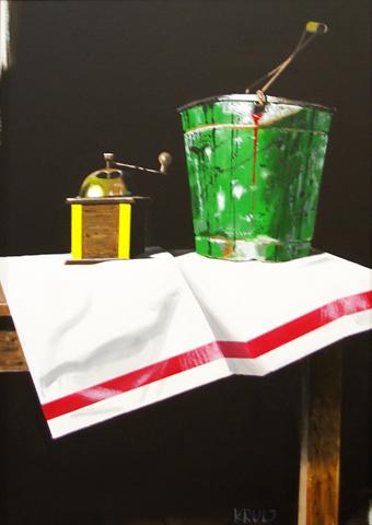 Grinder & Green Bucket  by  Zoran Krulj