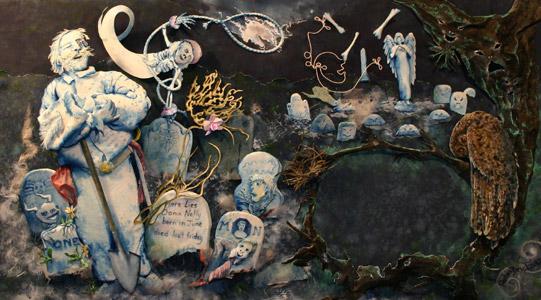 Midnight In The Cemet... by  Robin Brickman - Masterpiece Online