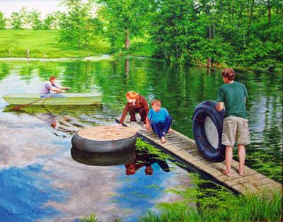 Launching the Rafts by   Teresa  Wheeler - Masterpiece Online