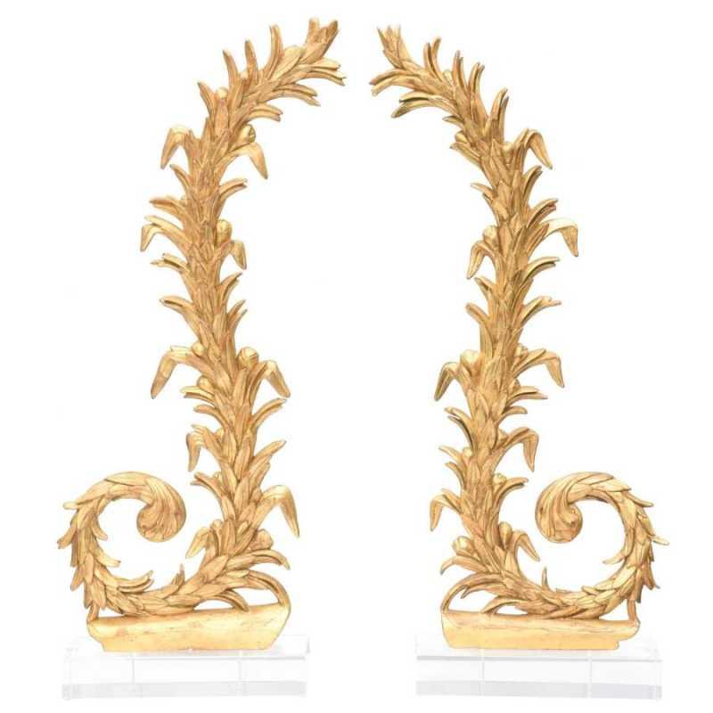 Pair Giltwood Carvings by  Italian  - Masterpiece Online