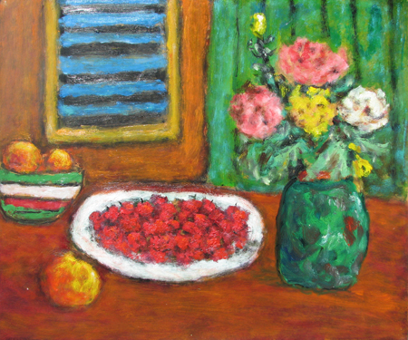 Fruit & Flowers on th... by  Andres  Morillo - Masterpiece Online