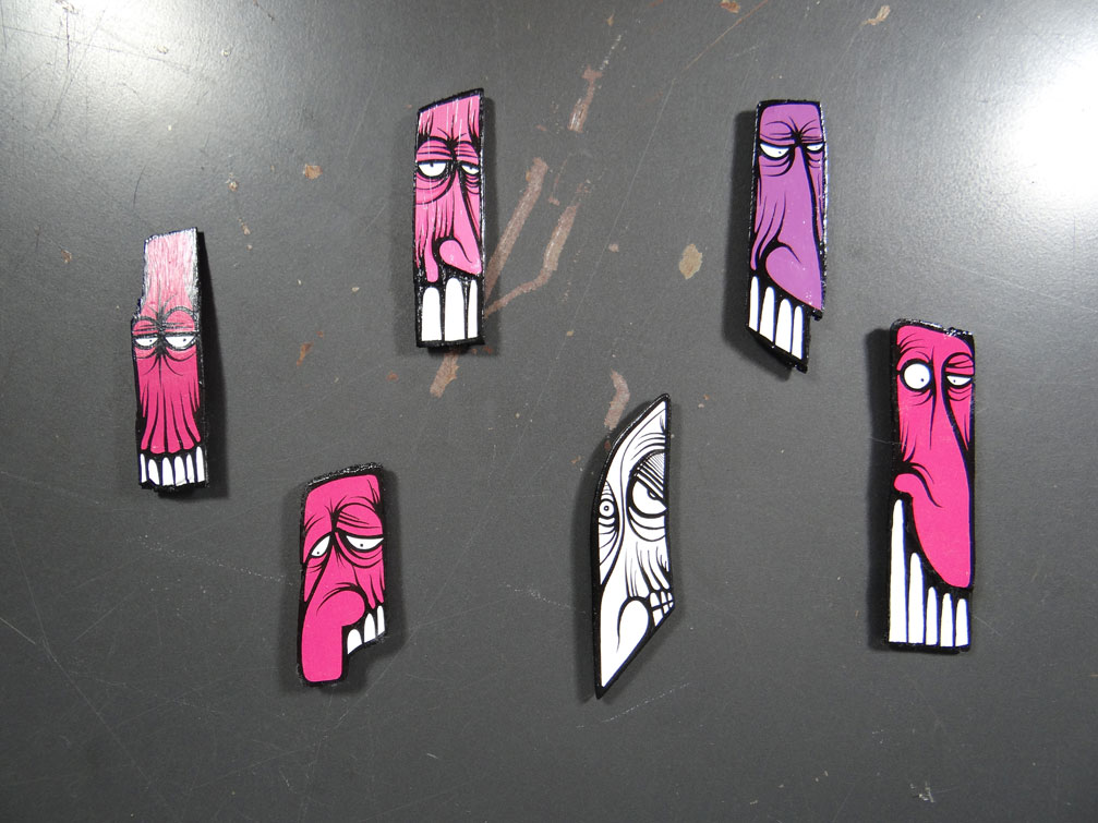 Face Magnets - Small  by   IMAMess...