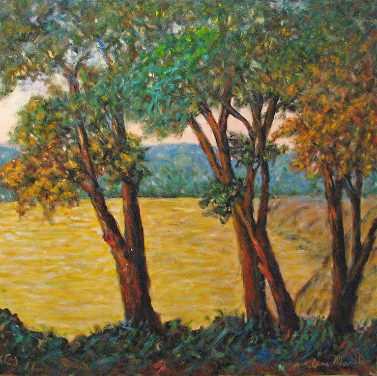 Trees by the Water by  Andres  Morillo - Masterpiece Online