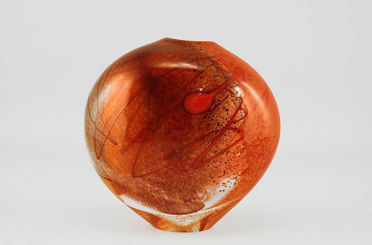 Rock Vessel/Red & Ora... by  Michelle Kaptur - Masterpiece Online