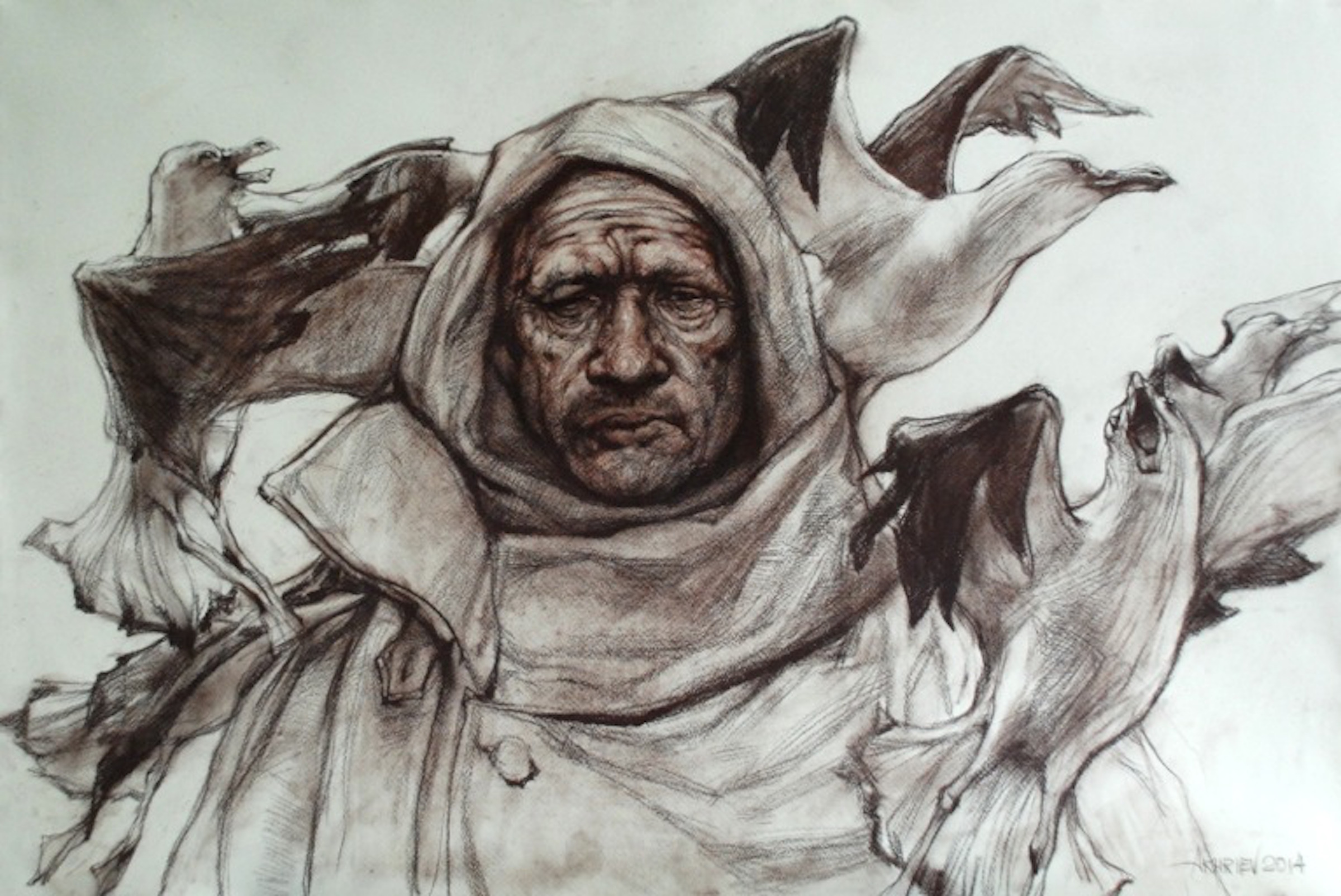 Study of Fisherman wi... by  Daud Akhriev - Masterpiece Online
