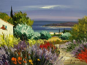 Lavender Path by  Louis  Magre - Masterpiece Online