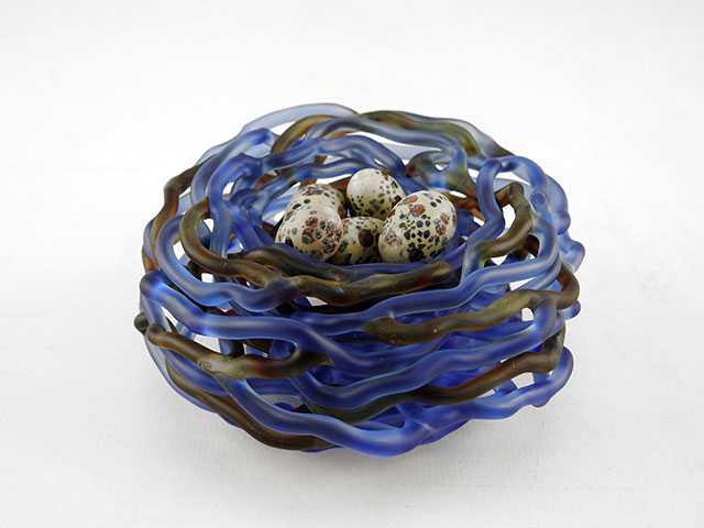 Mini Nest/Blue by  Demetra Theofanous - Masterpiece Online