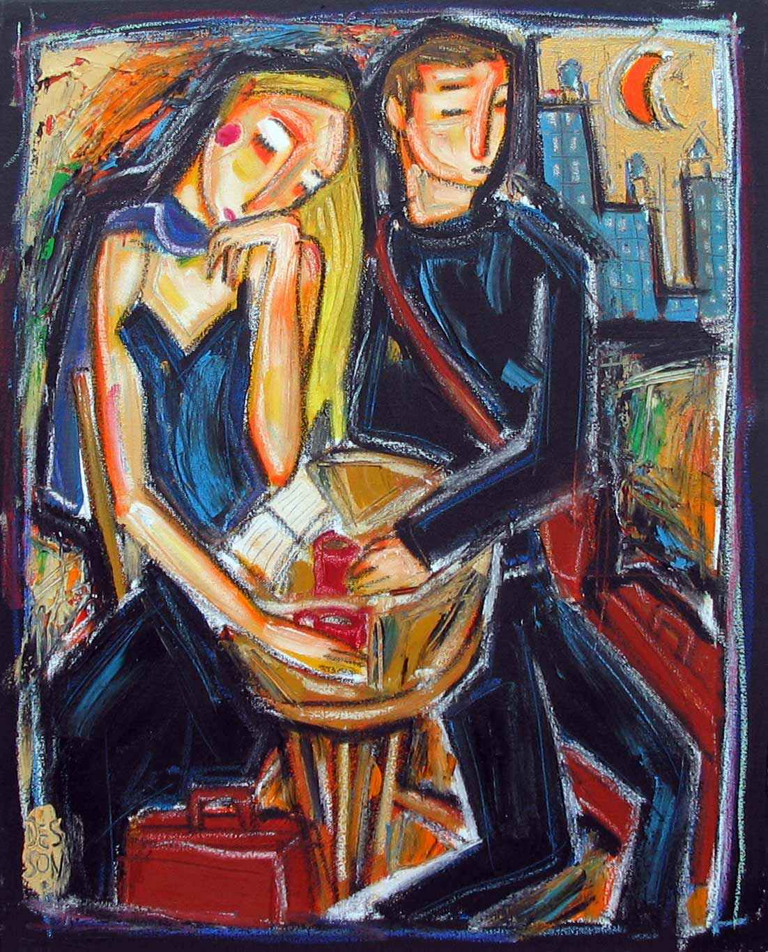 New York City Couple by  Denis Chiasson - Masterpiece Online