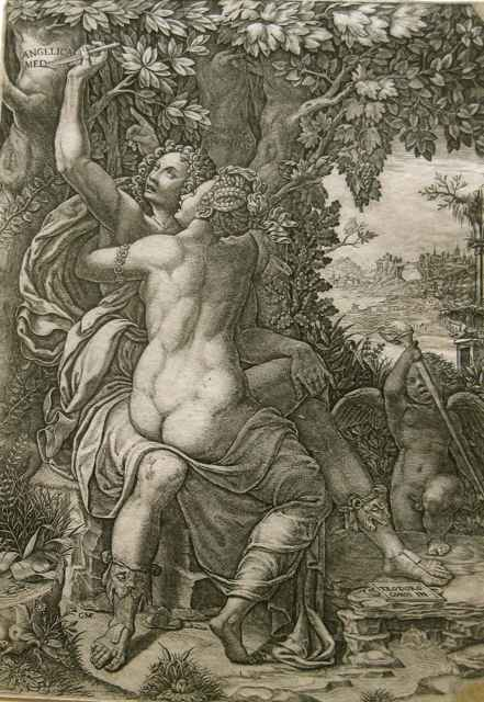 Angeline and Medor by  Giorgio Ghisi (1520-1582) - Masterpiece Online