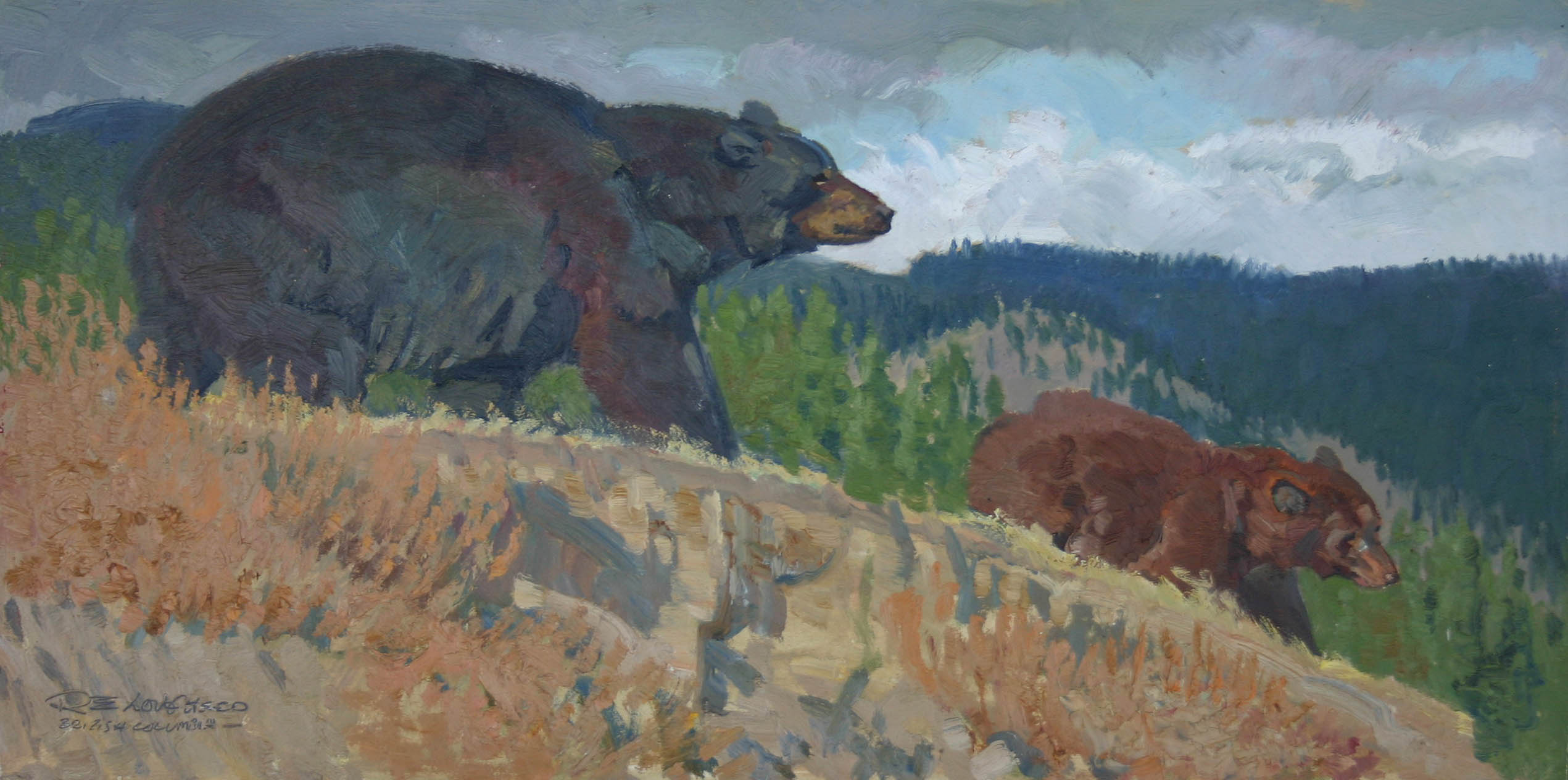 A Black Bear Family by  Robert Lougheed - Masterpiece Online