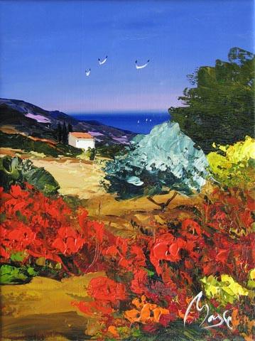 Flower Field by  Louis  Magre - Masterpiece Online