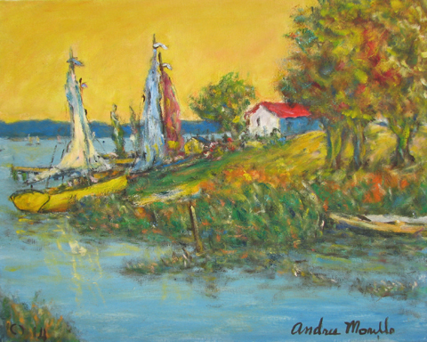 Resting Boats by  Andres  Morillo - Masterpiece Online