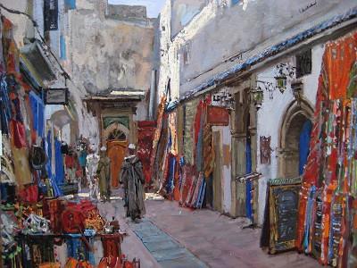 Streets of Essaouira by  Daud Akhriev - Masterpiece Online