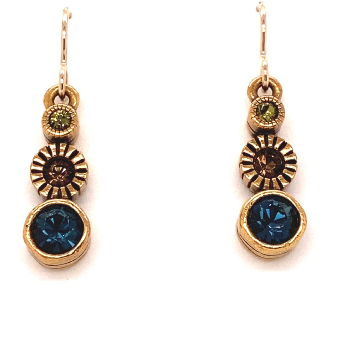 Sprite Earrings in Gold, Cascade
