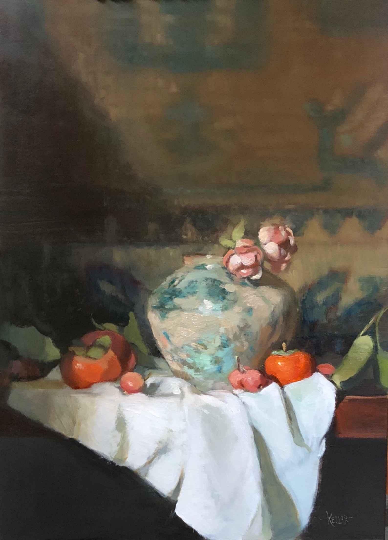 Tang Vase With Persim... by  Martha Kellar - Masterpiece Online