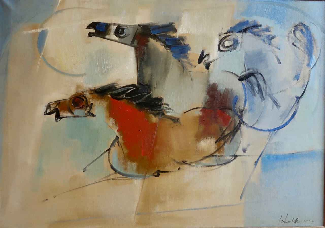 Three Tang Horses by  John Young (1909-1997) - Masterpiece Online