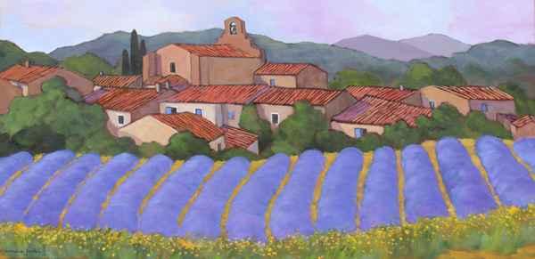 Le Village aux Lavand... by  Lorraine  Jordan - Masterpiece Online