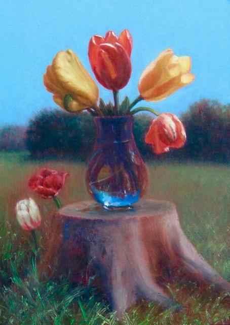 Tree Table/Tulips
