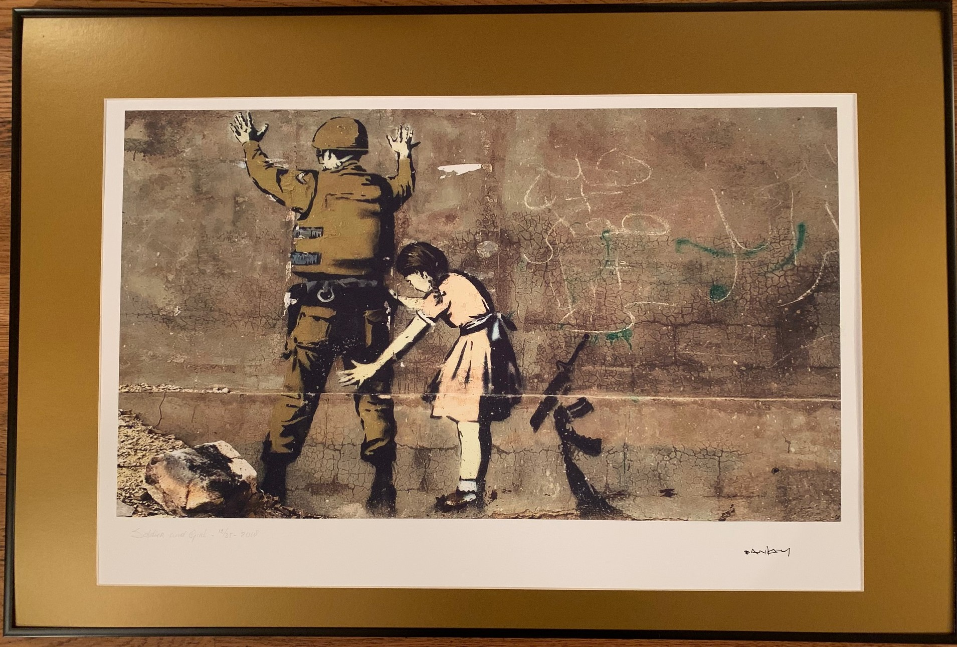 Soldier and Girl by   Banksy - Masterpiece Online
