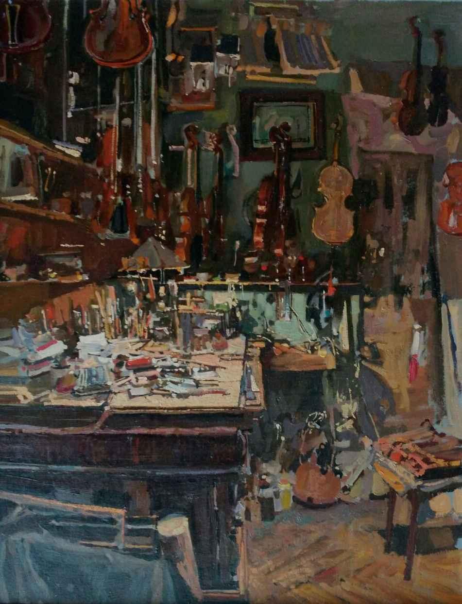 Studio of Alexander R... by  Daud Akhriev - Masterpiece Online