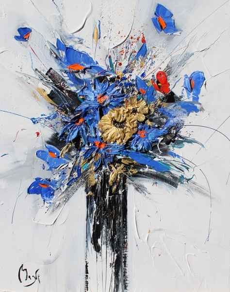 Burst of Blue by  Louis  Magre - Masterpiece Online