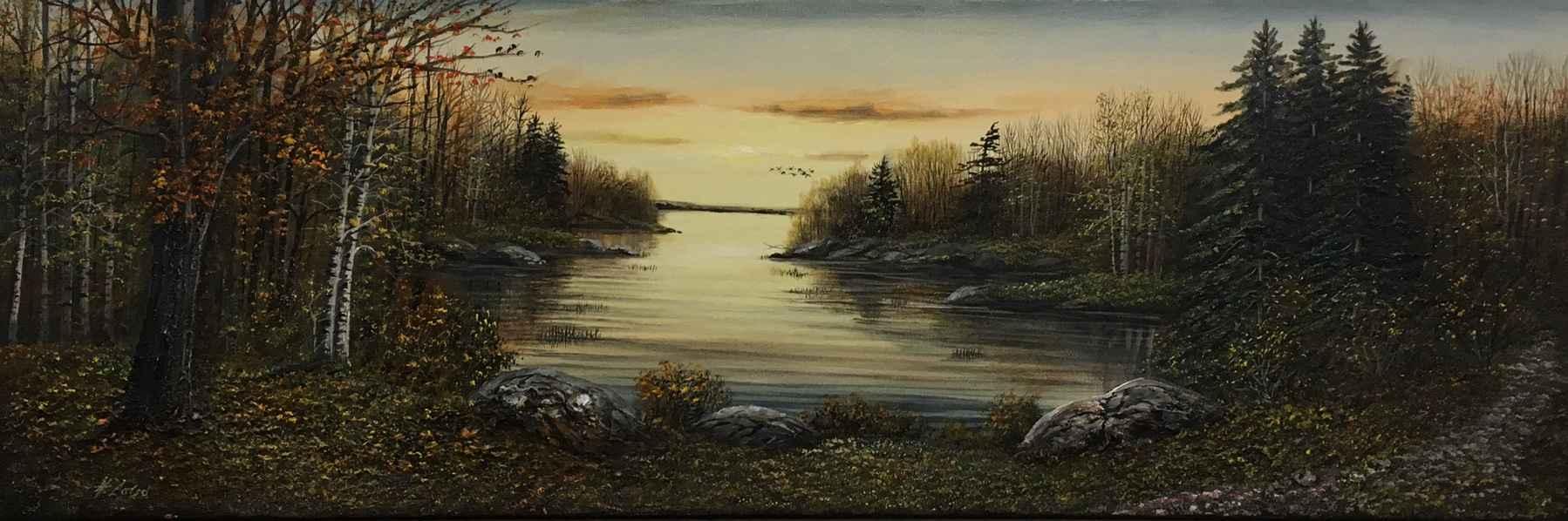 Muskoka At Dark by  Henry Lobo - Masterpiece Online