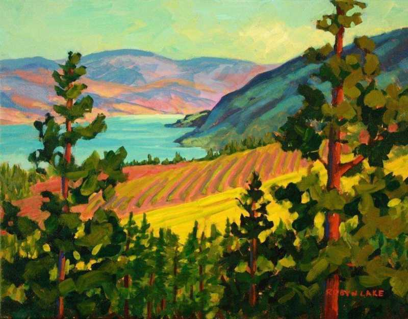 Peachland Late Aftern... by  Robyn Lake - Masterpiece Online