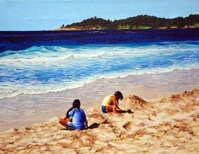 Playing in the Sand by   Teresa  Wheeler - Masterpiece Online