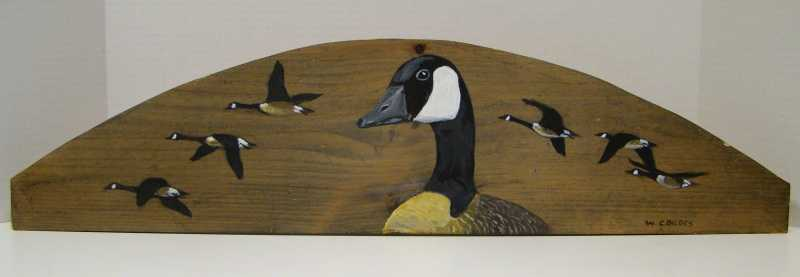 WC436 Geese on Wood by  William Cordes - Masterpiece Online