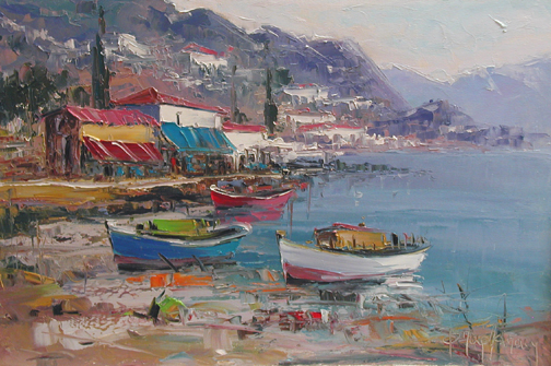 Village on the Foothi... by  Fani  Parlapani  - Masterpiece Online