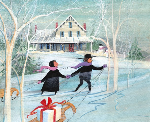 DP-TO GRANDMA'S HOUSE... by  P. Buckley Moss  - Masterpiece Online