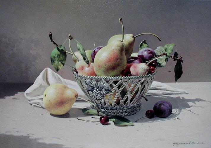 Still Life Pears by  Vasily Gribennikov - Masterpiece Online