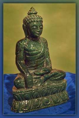 Green Jade Buddha Ind... by    - Masterpiece Online