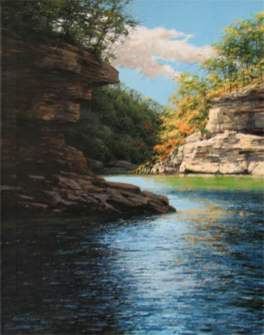 Quiet Inlet with Clif... by  Michael Wheeler - Masterpiece Online