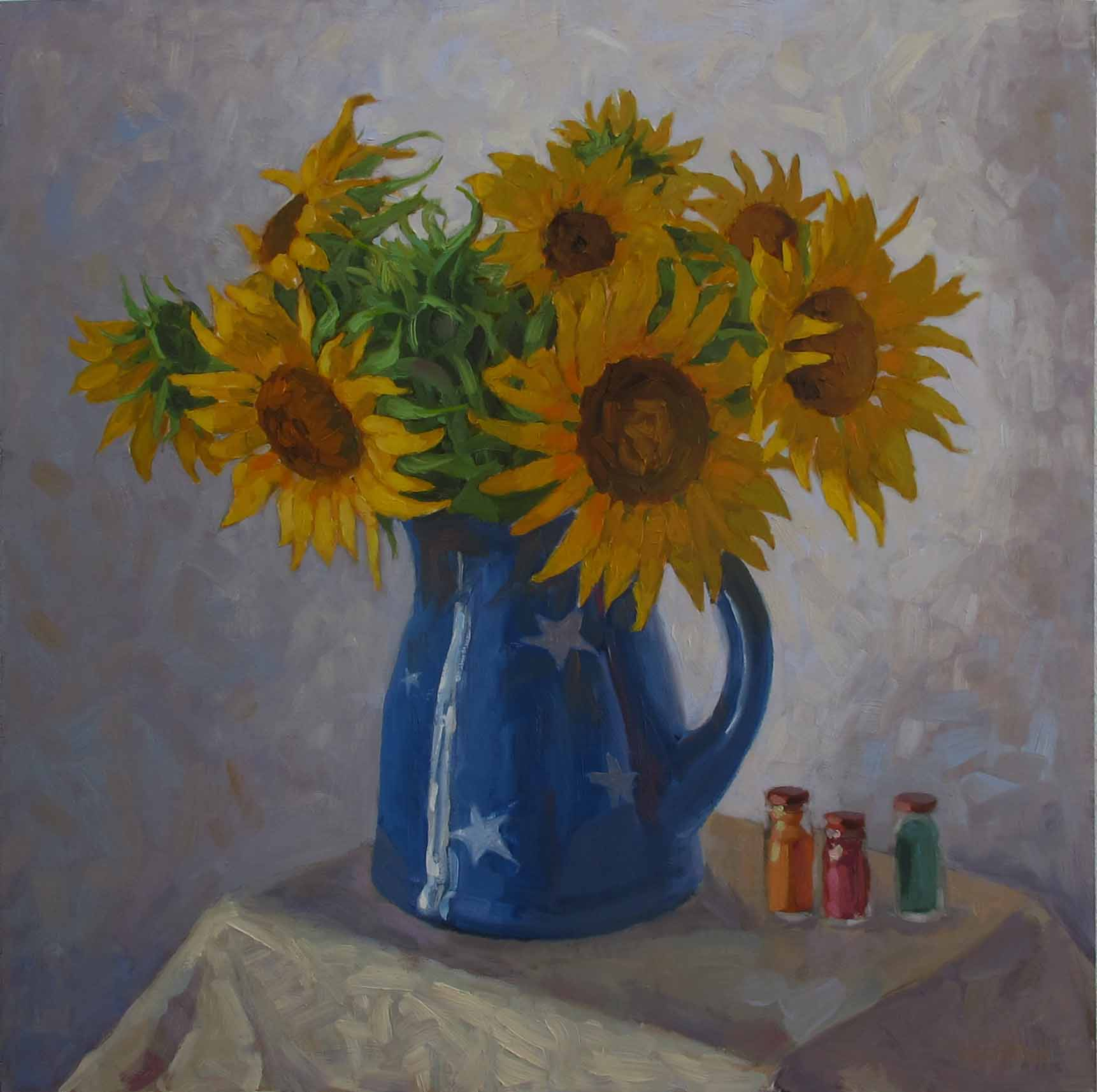 Sunflowers With Pigme... by  Melissa Hefferlin - Masterpiece Online