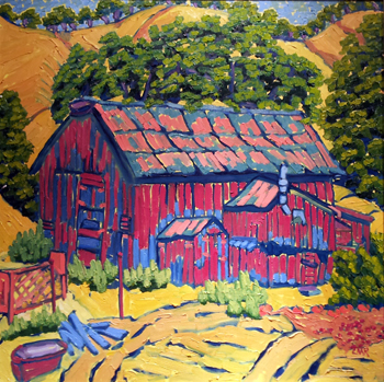 The Old Pig Farm by  Char  Michelson  - Masterpiece Online